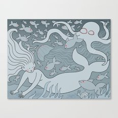Crowded Sea Canvas Print