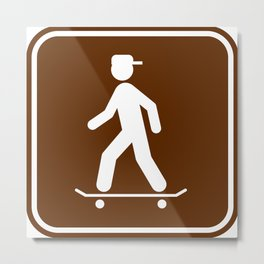 "Urban Pictograms ""Skater"" Metal Print"