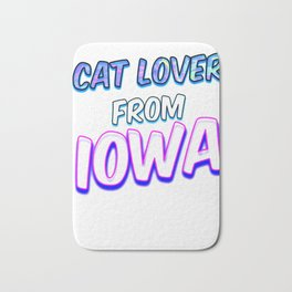 Dog Lover From Iowa Bath Mat