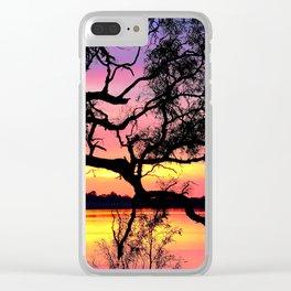 Lake Bonney Sunset Clear iPhone Case
