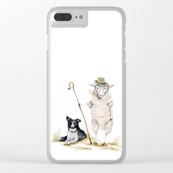 Sheepherd Sheep Clear iPhone Case