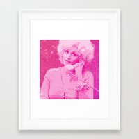 dolly parton Framed Art Prints featuring Dolly Parton by D Arnold Designs