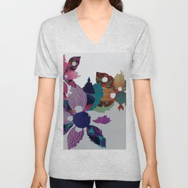 The Garland- Paper Flowers Unisex V-Neck