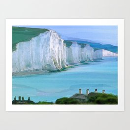 Cliffs of Dover Art Print