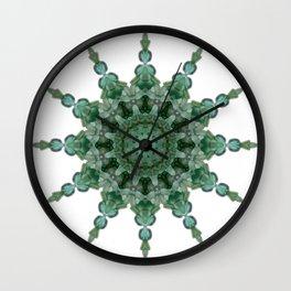 Green Seaflake Wall Clock