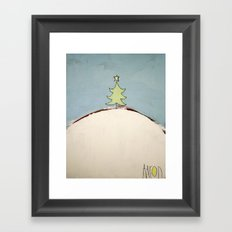 Christmas Tree on a Hill Framed Art Print