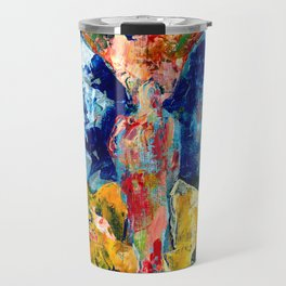 Butterfly 1, Acrylic On Canvas, Chase Medved Travel Mug
