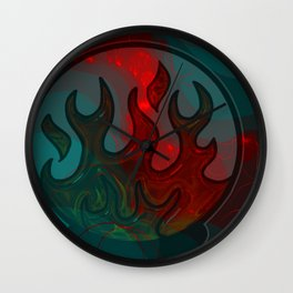 Embers Abstract Art Wall Clock