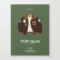 top gun Canvas Prints featuring Dress The Part - Top Gun by Moxy Creative House
