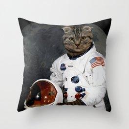 Astro Cat Throw Pillow