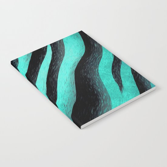 Cyan Zebra  Notebook