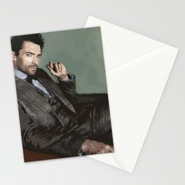 Hugh Jackman 3 Stationery Cards