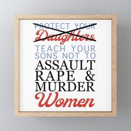 Women's Safety Feminist Artwork Framed Mini Art Print