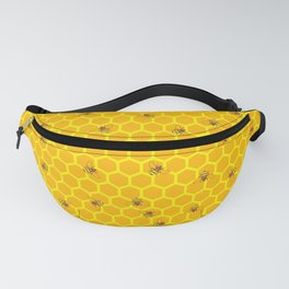 Mind Your Own Beeswax / Bright honeycomb and bee pattern Fanny Pack