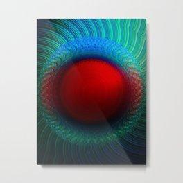 Scarlet Vortex Metal Print