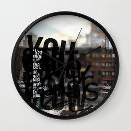Words ~ Lyrics ~  One Shot Wall Clock