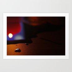 Encre brûlée II Art Print