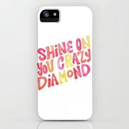 Shine On Your Crazy Diamond – Pink & Melon Palette iPhone Case