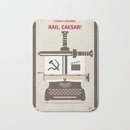 No645 My Hail Caesar minimal movie poster Bath Mat
