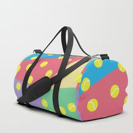 Tennis 80's Vintage Pattern Duffle Bag