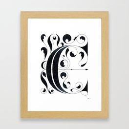 """Drop cap """"C"""" Framed Art Print"""