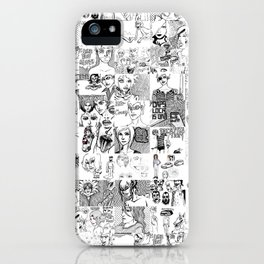 doodle collage iPhone Case