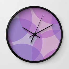 Purple Violet Circles Wall Clock