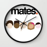 misfits Wall Clocks featuring Misfits Cheers by The Kid