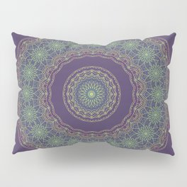 Lotus Mandala in Dark Purple Pillow Sham