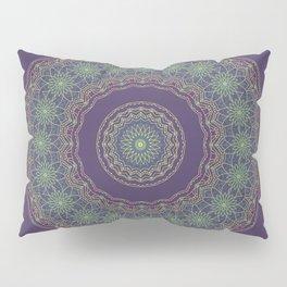 Lotus Mandala in Dark Purple Pillow Sham