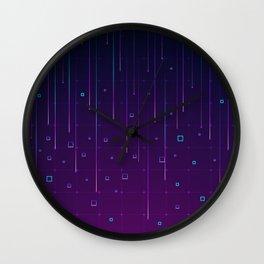Pixelrain Video Games Inspired Pattern Wall Clock