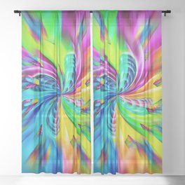 Abstract perfection - Magic of colors Sheer Curtain
