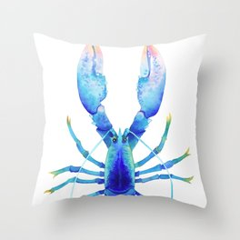Blue Lobster № 2 Throw Pillow