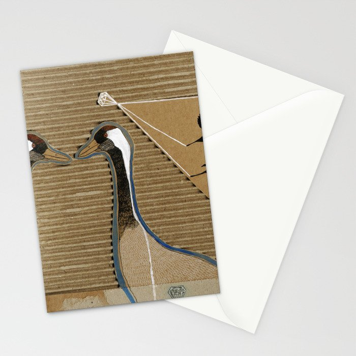 turnalar (cranes) Stationery Cards