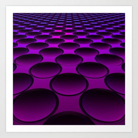 Purple Dimples Art Print