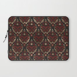 Persian Oriental Pattern - Black and Red Leather Laptop Sleeve