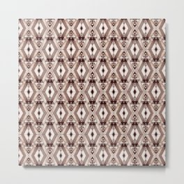 Traditional African Moroccan Style Pattern Illustration Metal Print
