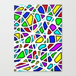rainbow clown Canvas Print
