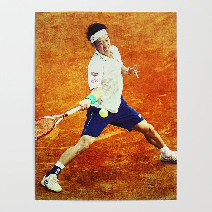 Kei Nishikori Tennis Poster