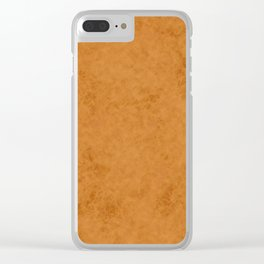 Yellow suede Clear iPhone Case