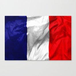 France Flag Canvas Print