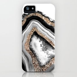 Agate Gold Glitter Glam #1 #gem #decor #art #society6 iPhone Case