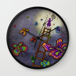 Ladder of Education Wall Clock