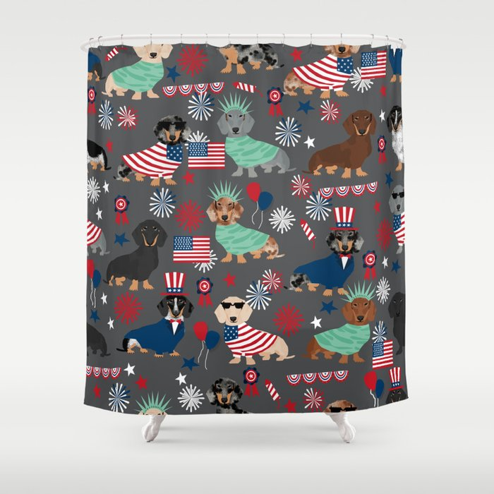 Dachshund july 4th patriotic dog breed pattern doxie dachsie lovers ...