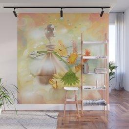 Duft der Blume - farbig Wall Mural