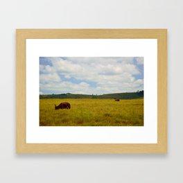 An African Landscape Framed Art Print