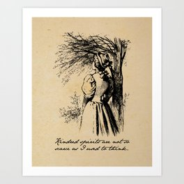 Anne of Green Gables - Kindred Spirits Art Print