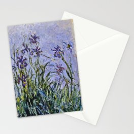 Claude Monet  -  Iris Mauves Stationery Cards