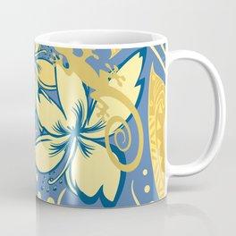 Samoan Orchid Sunset Polynesian Floral Coffee Mug