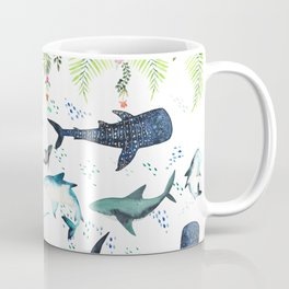 floral shark pattern Coffee Mug